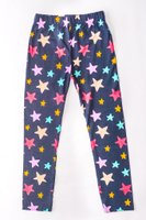 Star Printed Leggings (Navy and Pink):