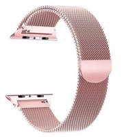 Linxure Milanese Apple Watch Replacement Strap (38mm)(Pink Rose Gold):
