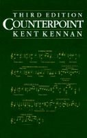 Counterpoint, Workbk (Hardcover, 3rd Revised edition): Kent Wheeler Kennan