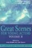 Great Scenes for Young Actors, 2 (Paperback): Craig Slaight, Jack F. Sharrar