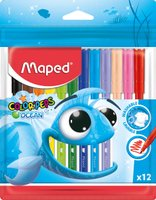 Maped Color'Peps Washable Felt Tip Pens - Ocean (12 Pack):