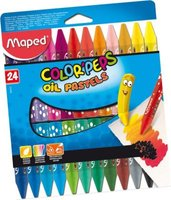 Maped Color'Peps Oil Pastel Crayons (Box of 24)(Assorted):