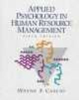 Applied Psychology in Human Resource Management (Hardcover, 5 Revised ed of US ed): Wayne F. Cascio