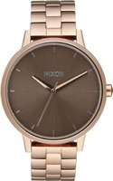 Nixon Ladies Kensington Analog Watch (Rose Gold & Taupe):