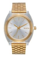 Nixon Unisex Time Teller Acetate Analogue Watch (Light Gold & Clear):