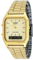 Casio Men's Retro Classic Analogue-Digital Wrist Watch (Gold Tone):