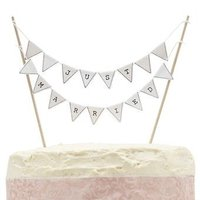 Vintage Lace - Just Married Cake Bunting  (Pack of 1):
