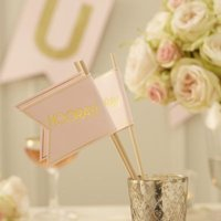 Pastel Perfection - Wedding Flags (Pack of 10):