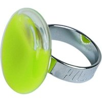 Pylones Lime Milk Flat Round Small Glass Ring: