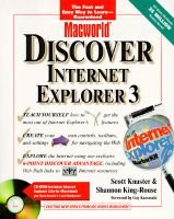 Discover Internet Explorer 3 for Macs (Book): Scott Knaster, Shannon King