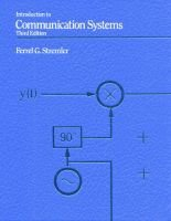 Introduction to Communication Systems (Paperback, 3International ed): Ferrel G. Stremler
