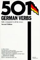 501 German Verbs (Paperback, 2nd edition): Henry Strutz
