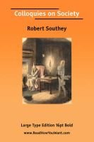 Colloquies on Society (Paperback): Robert Southey
