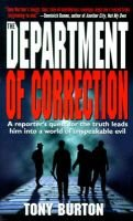 The Department of Correction (Paperback): Anthony Burton