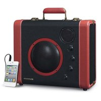 Crosley Soundbomb Portable Bluetooth Speaker (Black and Red):
