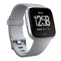 Fitbit Versa Fitness Smartwatch (Grey and Silver Aluminium):