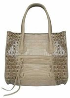 G Couture Crocodile Skin Shoulder Bag (Beige):