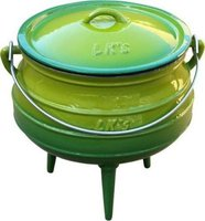 LK's Enamel Mini Potjie No ¼ (0.7L) (Green):