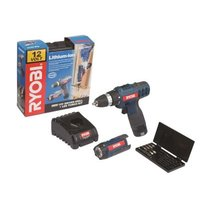 Ryobi Lithium-Ion Cordless Driver Drill & Torch (12V) (Battery Included):