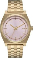 Nixon Ladies Time Teller Light Analog Watch (Gold & Pink):