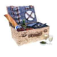 Avanti Picnic Basket (4 Person) (Navy Herringbone):