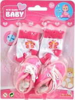 Simba New Born Baby - First Steps Shoes and Socks Set (Supplied May Vary):