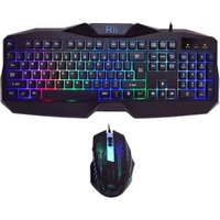 Rii RK400 LED Gaming Keyboard and Mouse (Black):