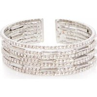 Quiz Women Diamante Cuff Bracelet (Silver):