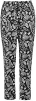 Golddigga Womens AOP Pants (Black and White AOP):