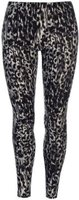 Golddigga Womens Lux Leggings (Black and Charcoal Animal):