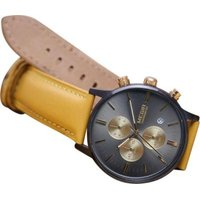 Matt Arend Ma 614 Evolution Calibre Leather Watch (Mustard Yellow):