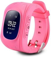 Ntech OLED M01 Kids GPS Smart Watch with Bluetooth (Pink):