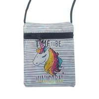 Mini Unicorn Sling Purse (Stripes):