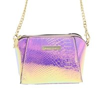 Blackcherry Iridescent Trapeze Mini Cross Body: