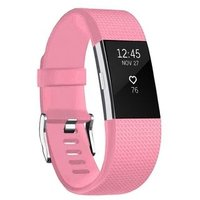 Linxure Silicone Strap for the Fitbit Charge 2 Light Pink - Large: