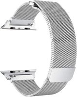 Linxure 38mm Milanese Apple Watch Replacement Strap - Silver: