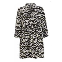 Quiz Ladies Zebra Print Shirt Dressulticoloured: