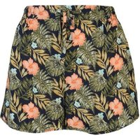 Golddigga Ladies Print Shorts - Navy: