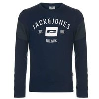 Jack & Jones Mens Core Luis Sweatshirt (Navy and Dark Grey) [Parallel Import]: