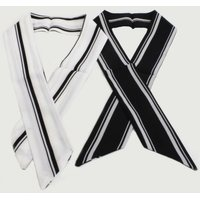 White & Navy Stripe Neckerchief:
