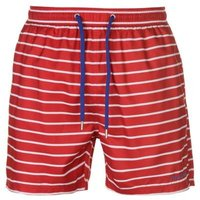 Pierre Cardin Mens Stripe Swimshorts - Red/White/Royal  [Parallel Import]: