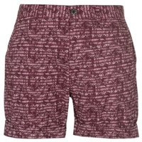 Pierre Cardin Mens Aztec Shorts - Burgundy  [Parallel Import]: