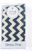 LoveLeigh Baby Sleepy Strap for Car Seat Head Support (Navy Chevron):