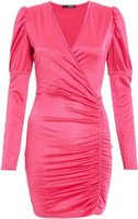 Quiz Ladies Wrap Long Sleeve Dress (Pink):