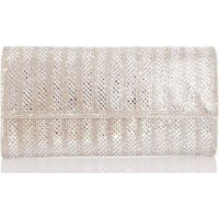 Quiz Ladies Diamante Clutch Bag (Silver):