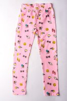 Ice Cream Printed Leggings (Light Pink):