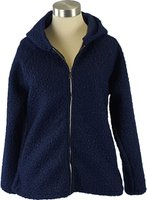 UB Creative Buclé Hoodie Jacket (Navy Blue) (One Size):