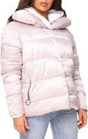 I Saw it First Ladies Padded Coat (Silver):