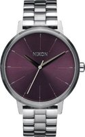 Nixon Ladies Kensington SS Analog Watch (Silver & Plum):