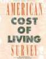 American Cost of Living Survey (Hardcover, 3rd edition): Gale Group